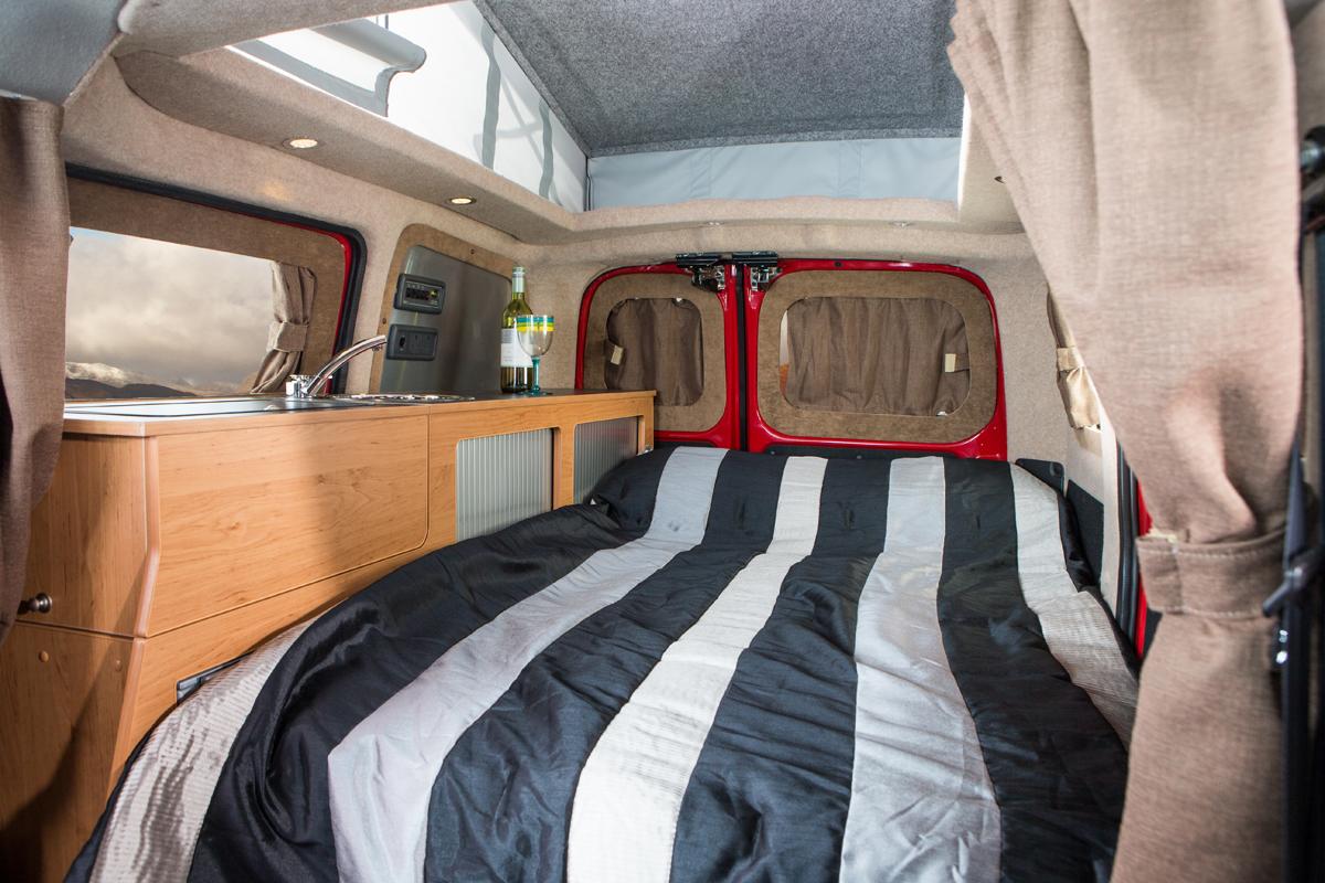 world 39 s first electric campervan hillside leisure. Black Bedroom Furniture Sets. Home Design Ideas