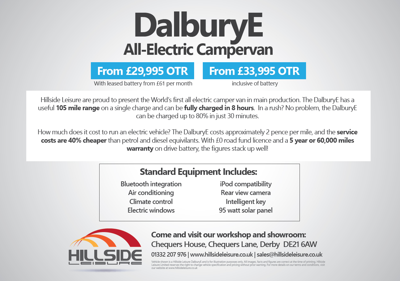 The Dalbury E - Electric Campervan Review - Hillside Leisure