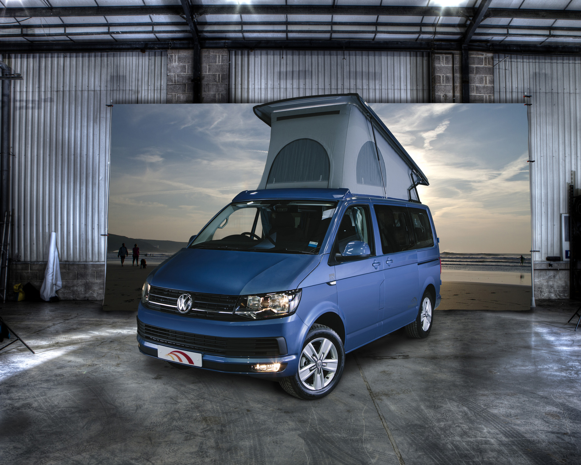 the new vw t6 campervan hillside leisure