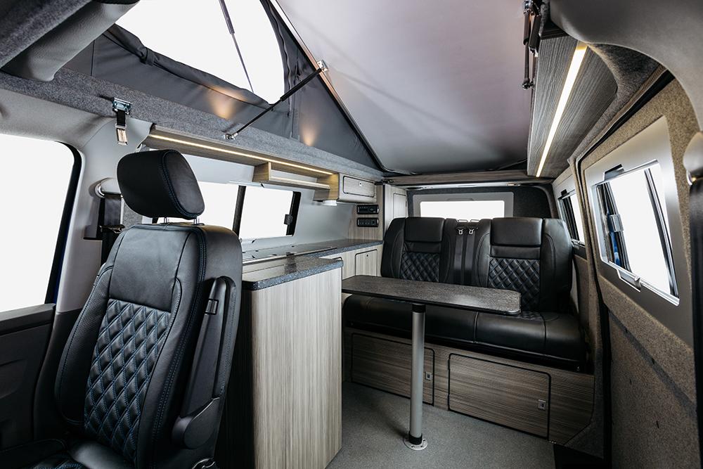 Campervan interior Birchover